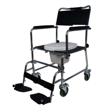 Adjustable Frame Deluxe Drop Arm Commode